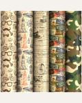 Упаковочная бумага крафт 70*100см, ArtSpace  1 лист, 80г/м2, ассорти